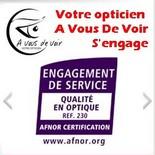 A Vous de Voir est certifié AFNOR pour mieux vous servir